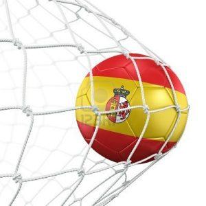 6186571-rendu-3d-d-39-un-ballon-de-football-espagnol-dans-un-filet