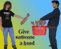 give someone a hand - not